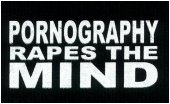 Pornography rapes the mind.